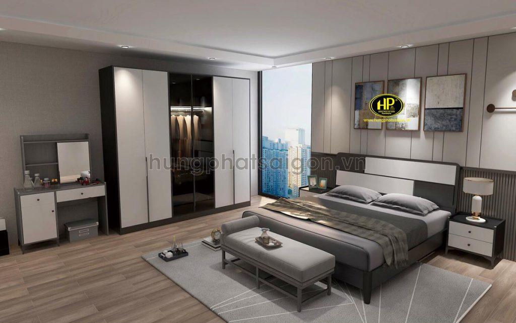 Bộ giường tủ bàn trang điểm gỗ AT-16-24