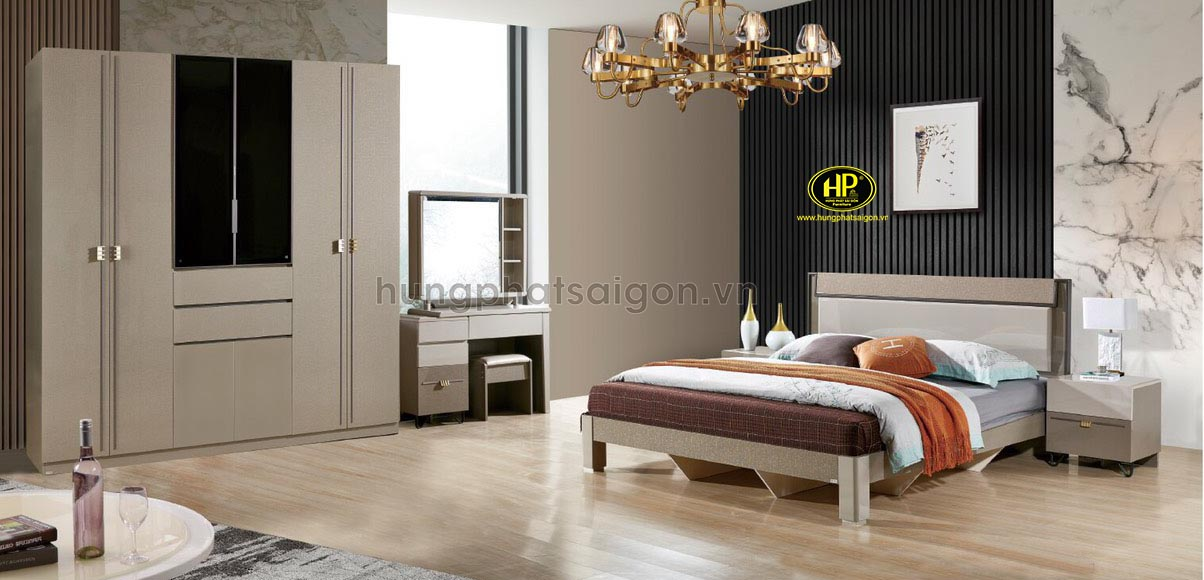 Bộ giường tủ gỗ hiện đại AT-516