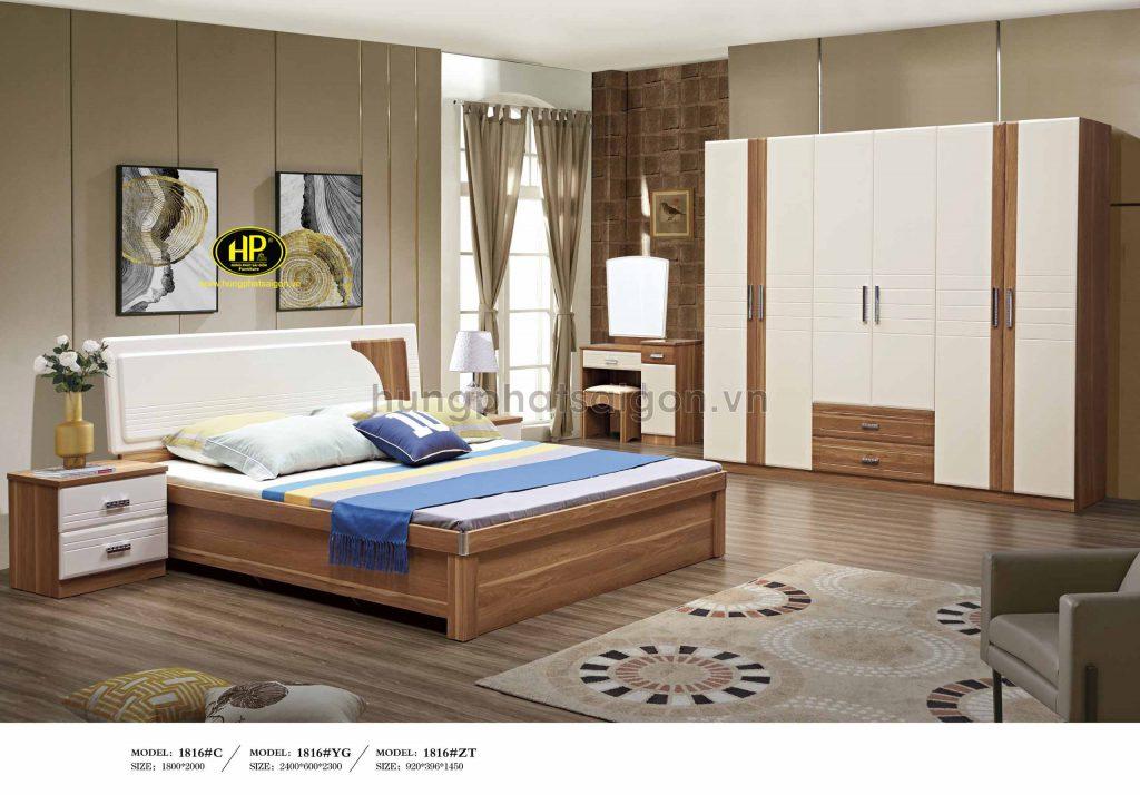 Bộ giường tủ gỗ hiện đại TP-1816