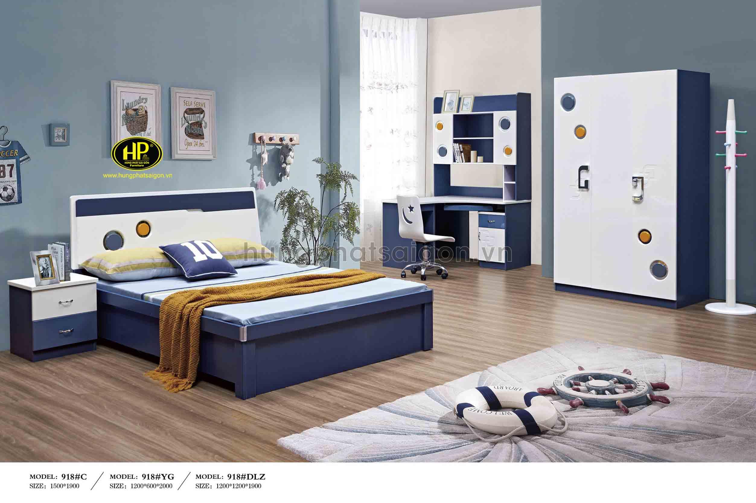 Bộ giường tủ gỗ hiện đại giá rẻ TP-918