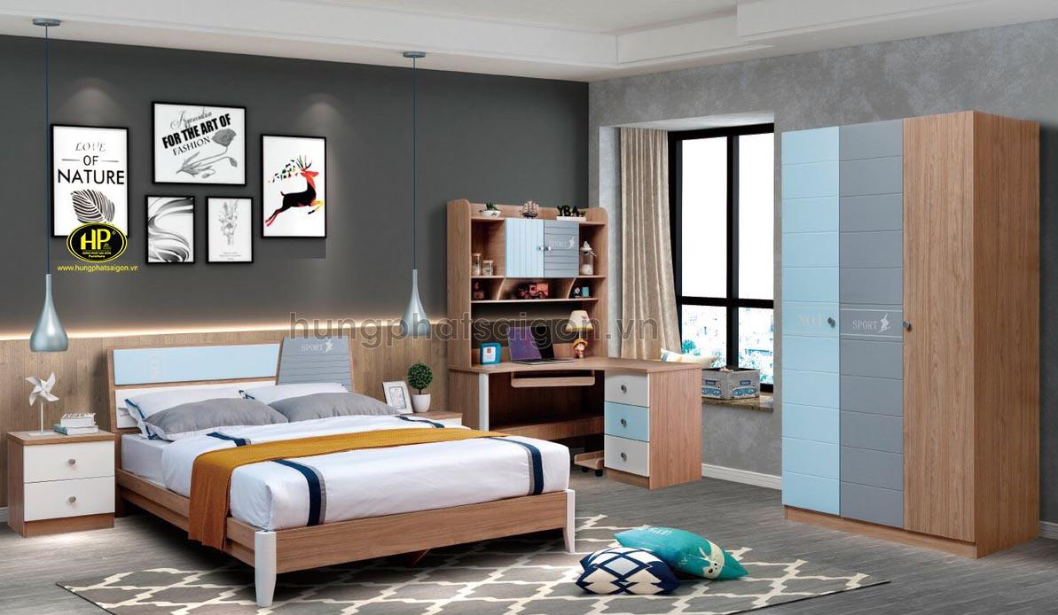 Combo giường tủ bàn học cho bé AT-9902