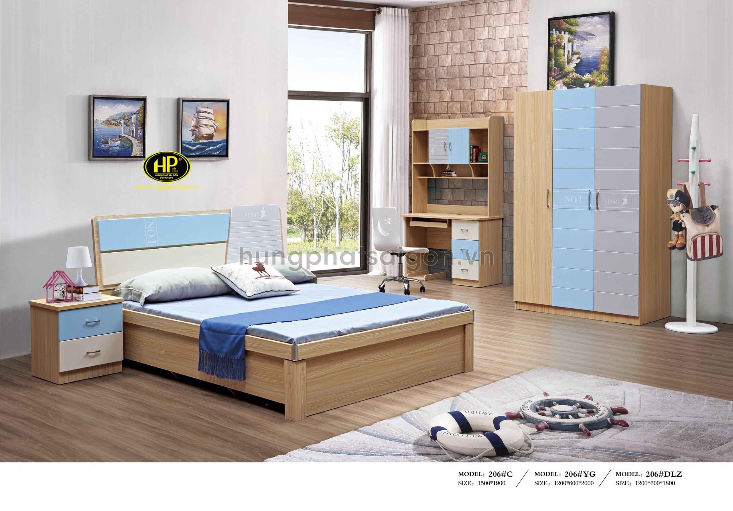 Combo giường tủ bàn học cho bé TP-206