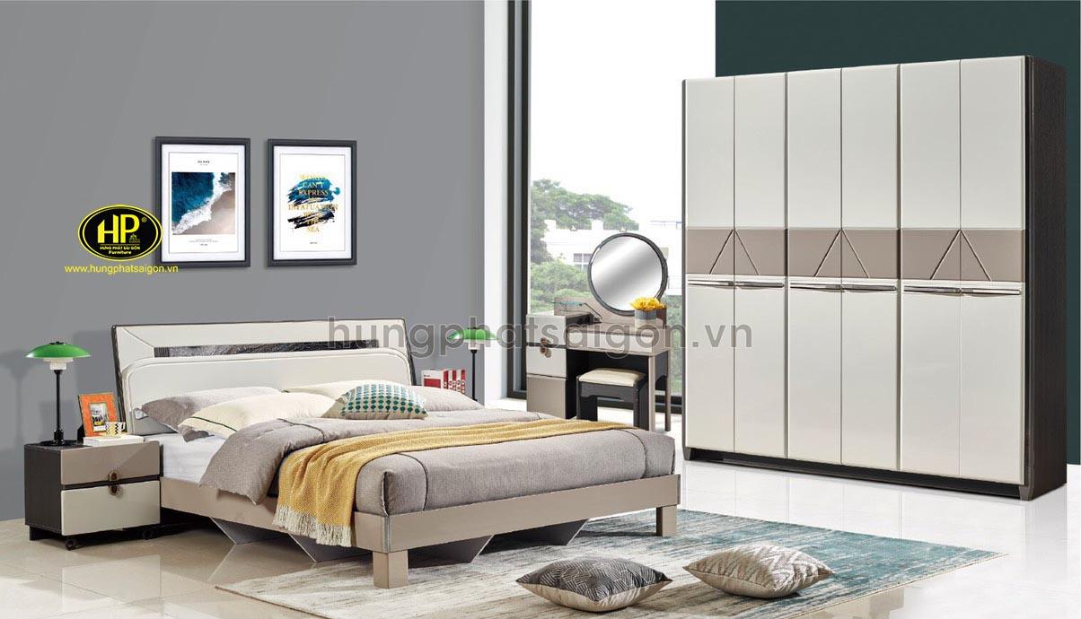 Combo giường tủ bàn phấn cao cấp AT-9301