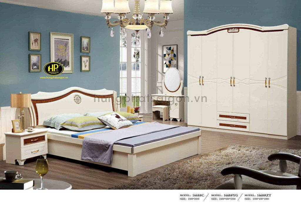 Combo giường tủ bàn phấn cao cấp TP-1668