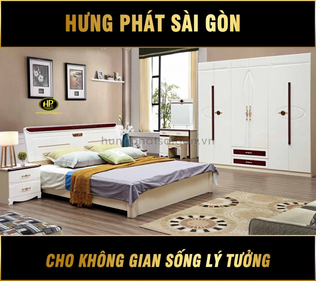 Combo giường tủ bàn phấn cao cấp TP-1826