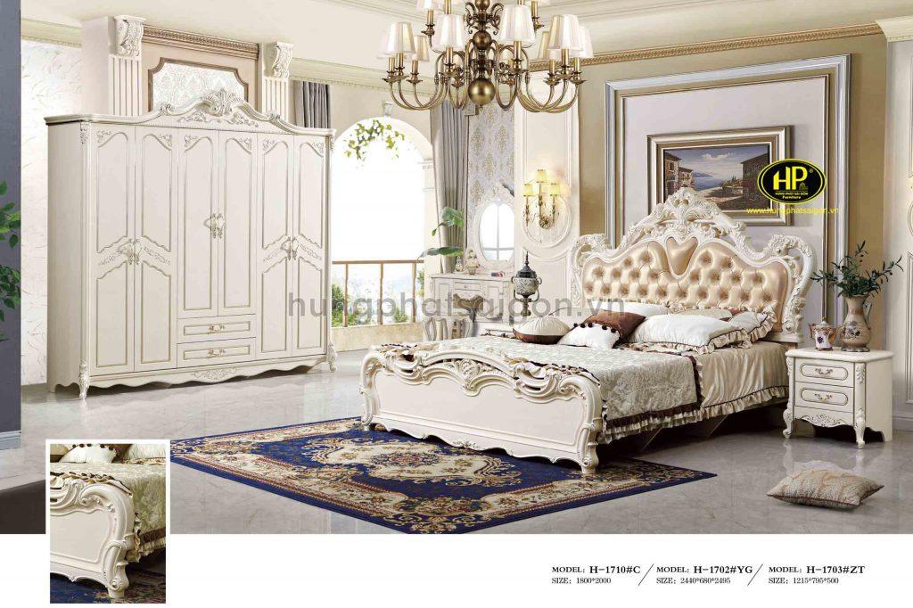 Combo giường tủ bàn phấn cổ điển TP-1710