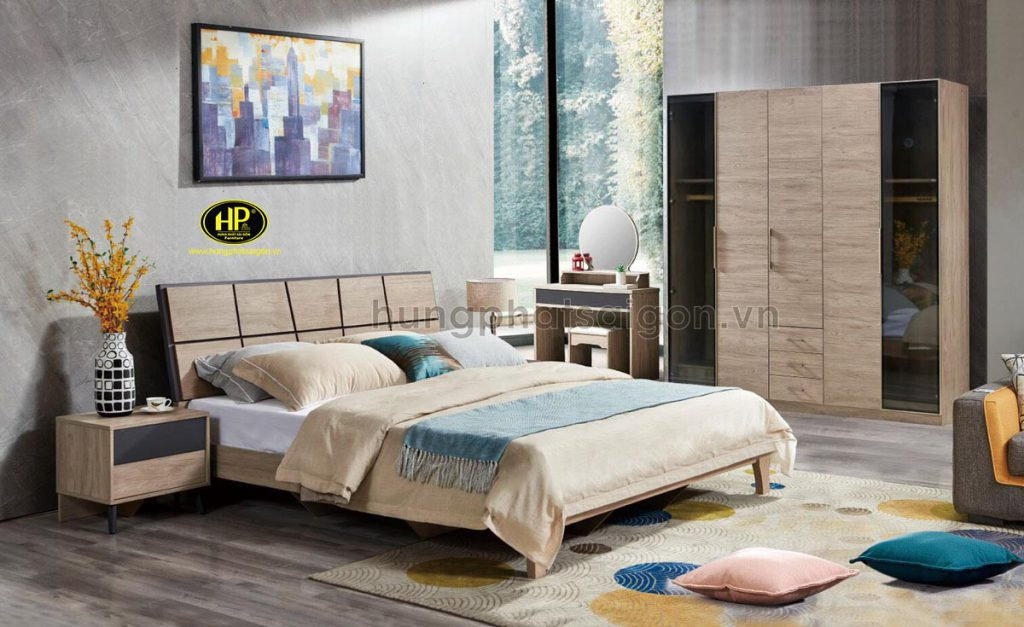 Combo giường tủ gỗ MDF hiện đại AT-8508