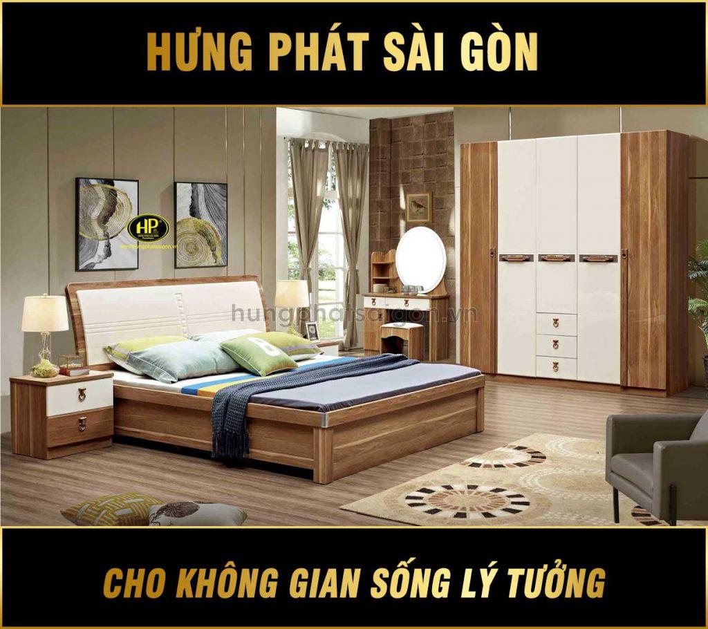 Combo giường tủ gỗ nhập khẩu TP-1965