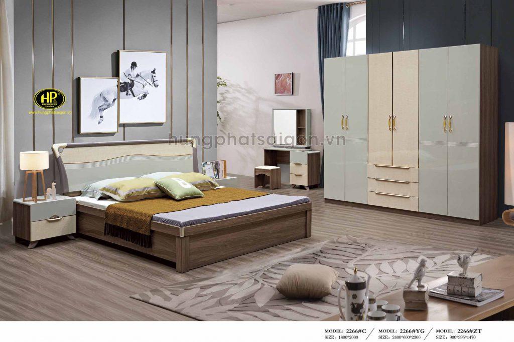 Combo giường tủ phòng ngủ hiện đại TP-2266