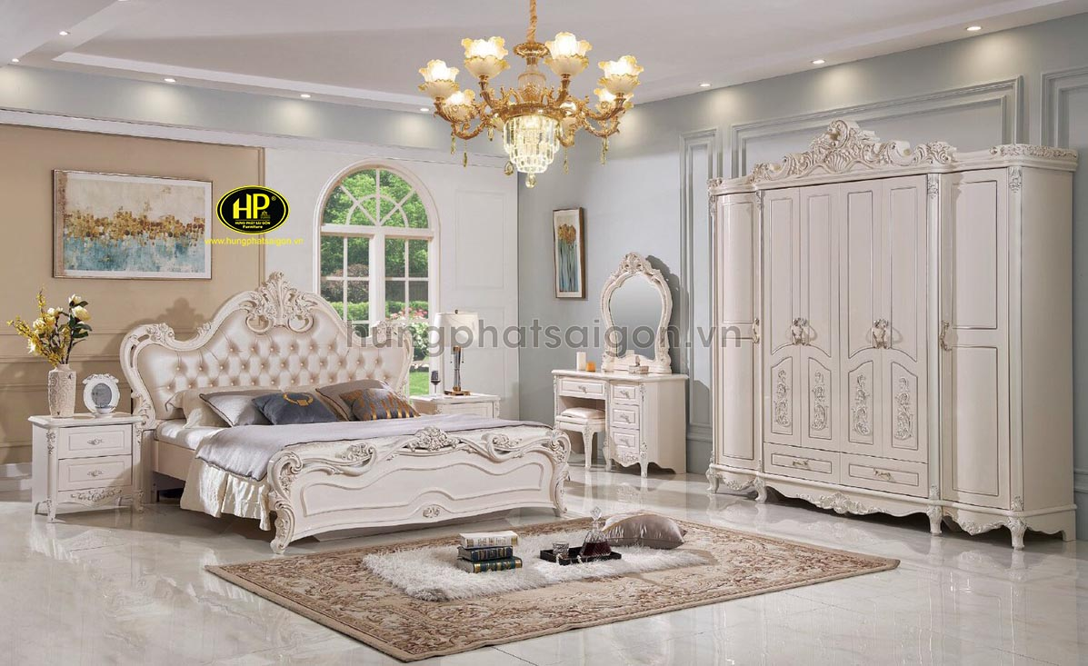 Combo giường tủ tân cổ điển sang trọng AT-F26