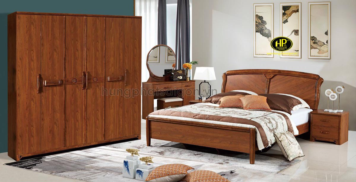 Combo nội thất phòng ngủ bằng gỗ AT-9601