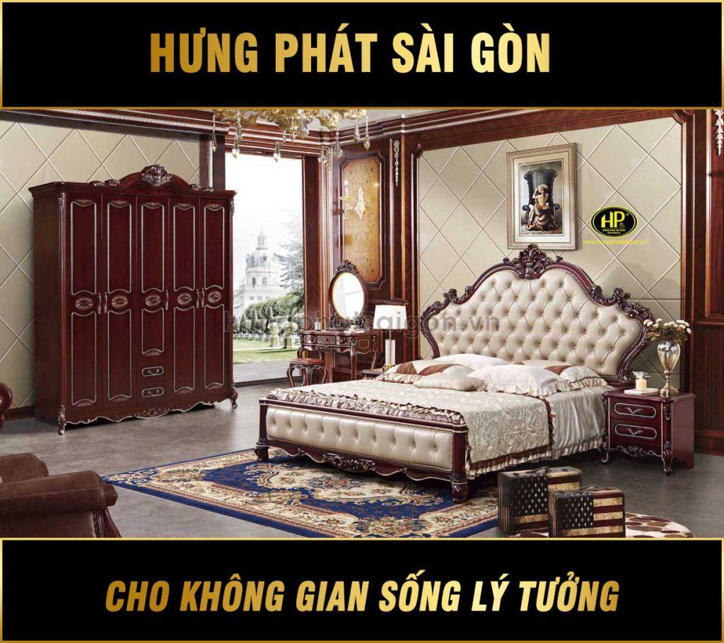Combo nội thất phòng ngủ tân cổ điển TP-1658
