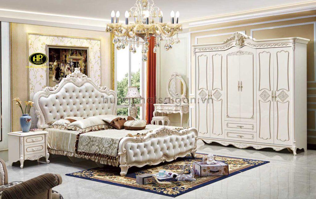 Commbo giường tủ bàn phấn cổ điển cao cấp TP-1725