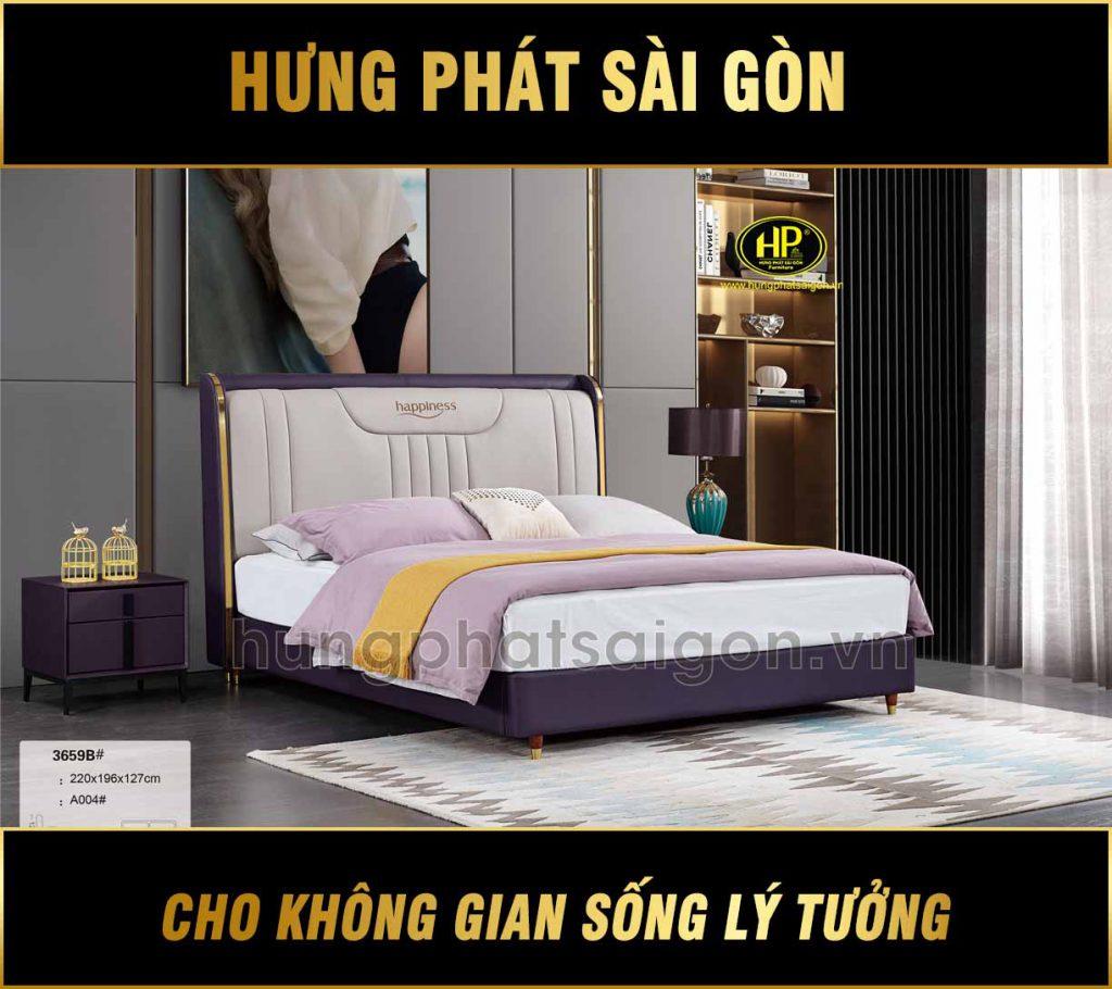 Giường bọc da cao cấp TP-3659B