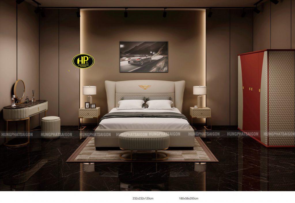 Giường bọc da hiện đại TP-Y002
