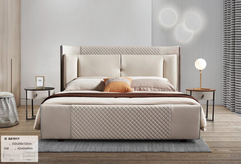 Giường da hiện đại cho phòng ngủ TP-A8191