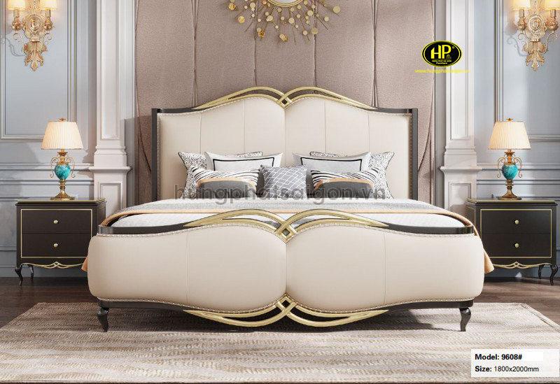Giường ngủ bọc da cao cấp AT-9608
