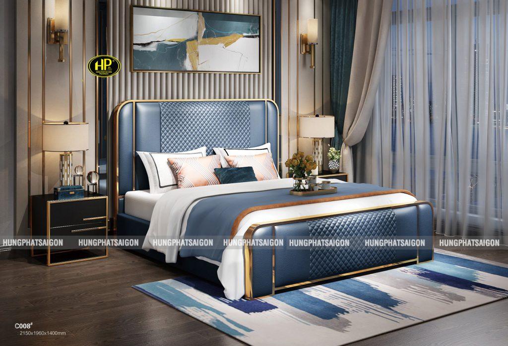 Giường ngủ bọc da hiện đại TP-C008