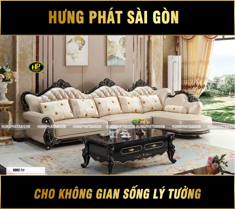 Sofa Tân Cổ Điển Góc L Nhập Khẩu TP-6002-1