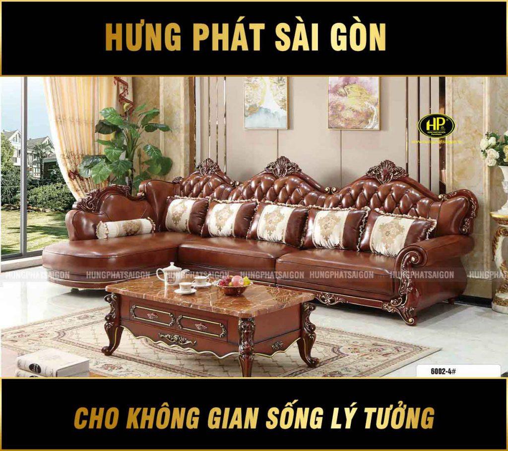 Sofa Tân Cổ Điển Góc L Nhập Khẩu TP-6002-4