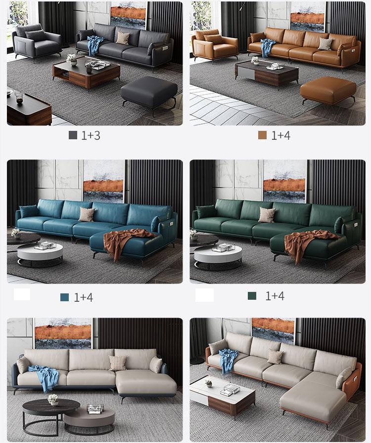 Sofa băng da cho phòng khách H-190