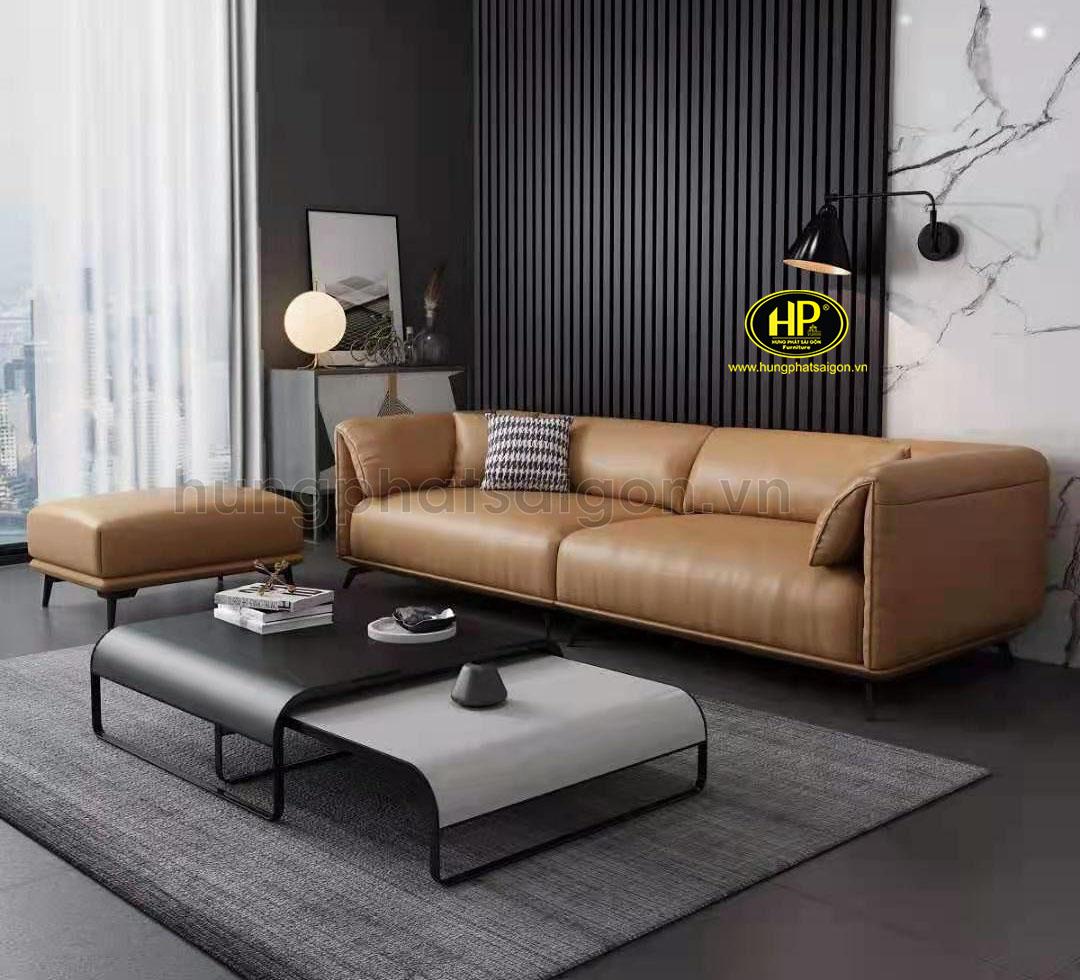 Sofa băng da cho phòng khách nhỏ H-192