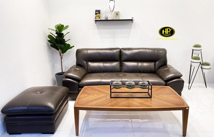 Sofa băng da đẹp H-191