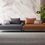 Sofa bằng da hiện đại H-189
