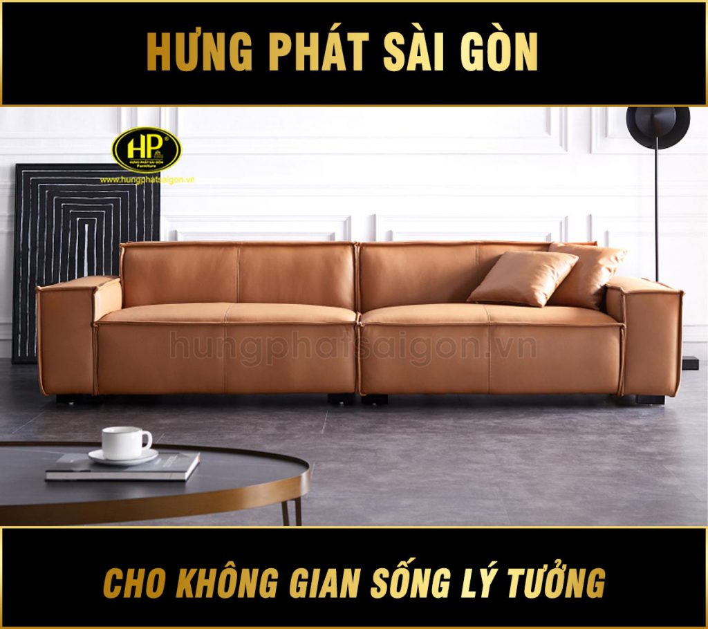 Sofa băng da hiện đại cao cấp H-188