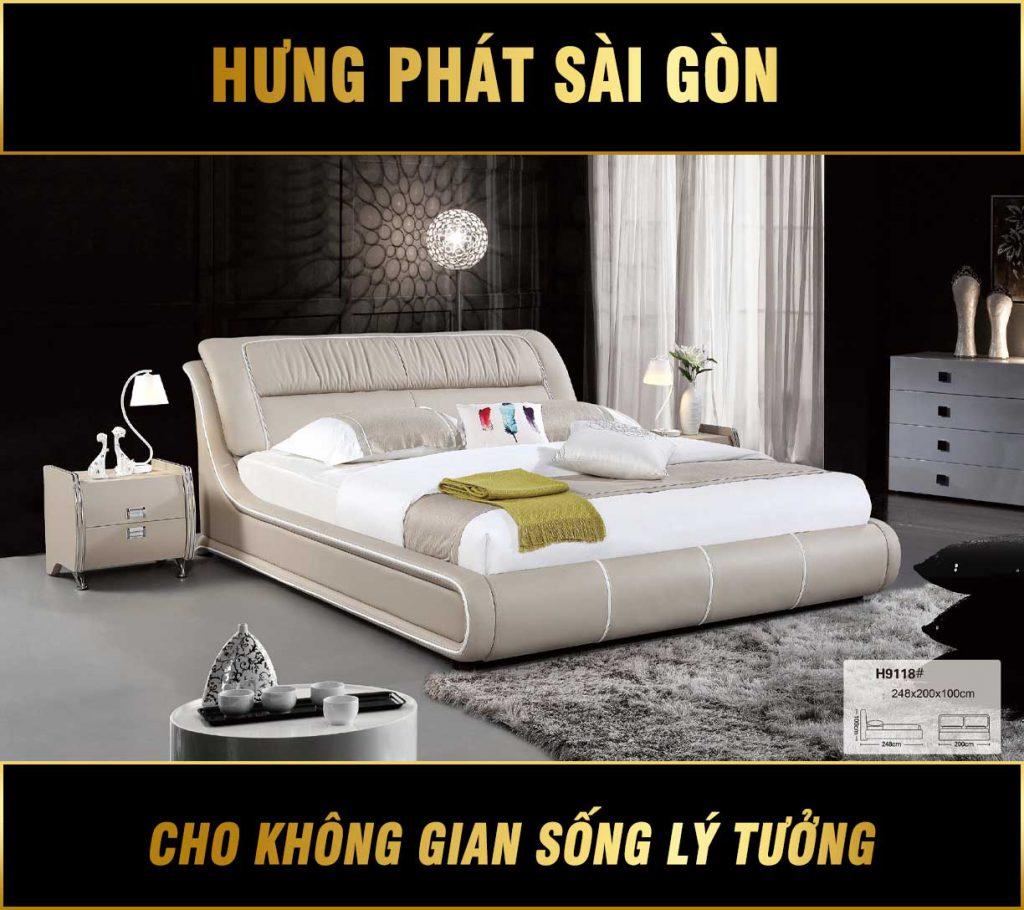 Sofa bọc da cho phòng ngủ hiện đại TP-H9118