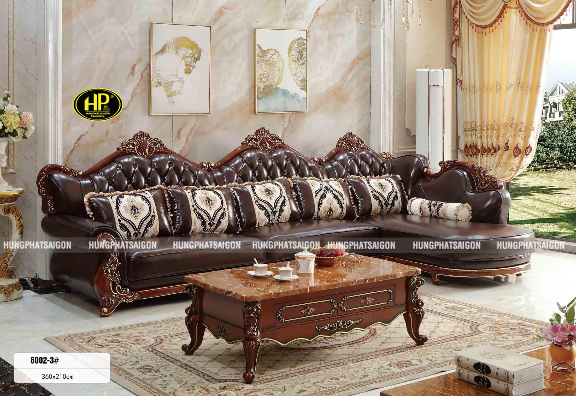 Sofa Tân Cổ Điển Góc L Nhập Khẩu TP-6002-3