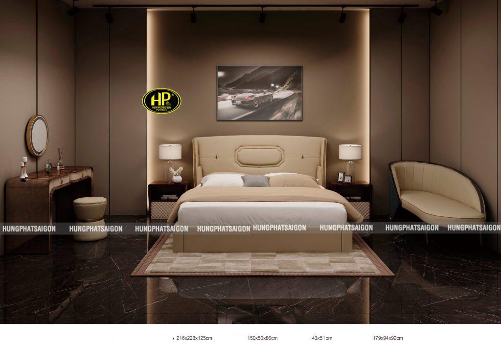 Trọn bộ giường bàn trang điểm phòng ngủ TP-Y011