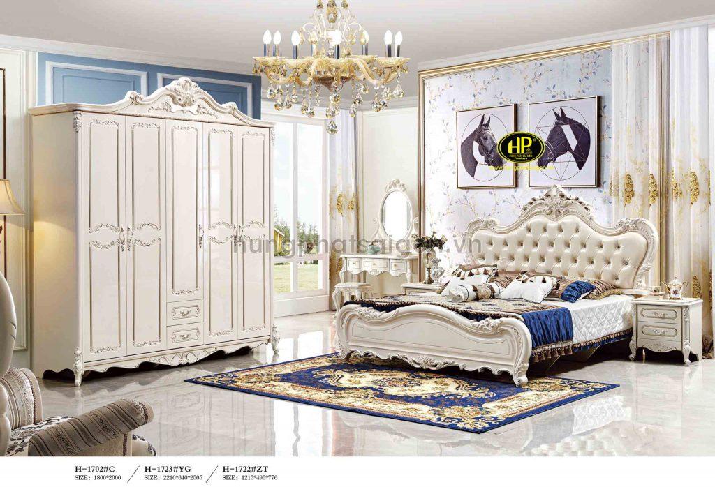 Trọn bộ giường tủ bàn phấn cổ điển cao cấp TP-1702