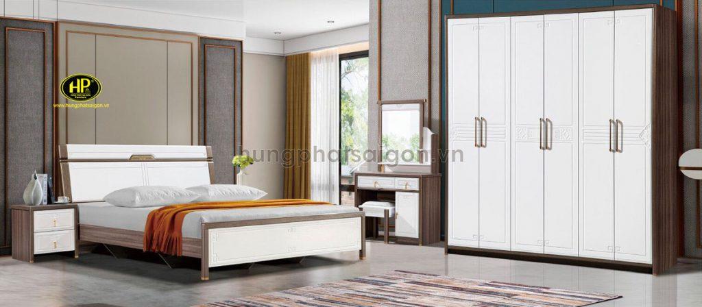 Trọn bộ giường tủ bàn trang điểm AT-1925 gỗ MDF