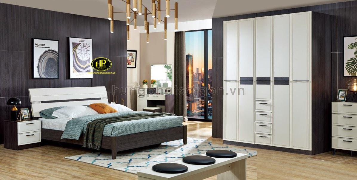 Trọn bộ giường tủ bàn trang điểm gỗ AT-B2002