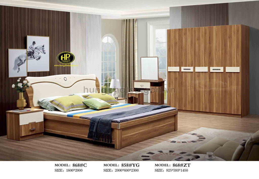 Trọn bộ giường tủ gỗ nhập khẩu TP-868