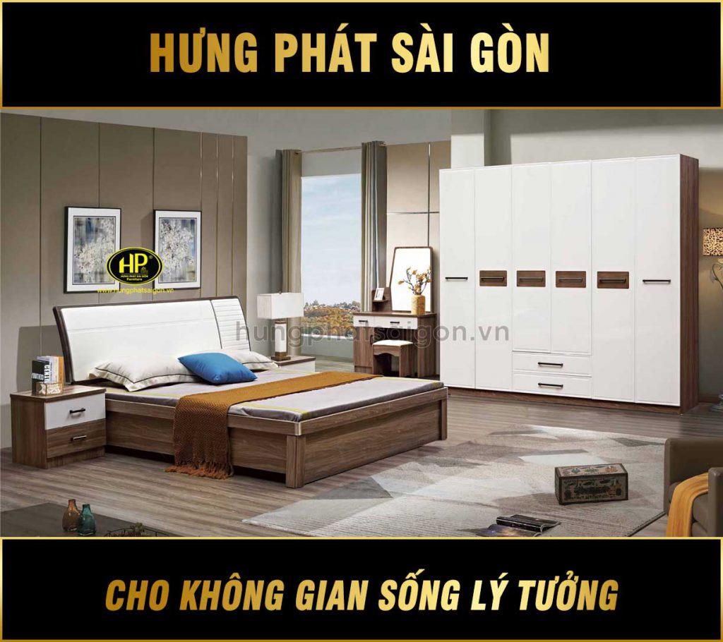 Trọn bộ giường tủ phòng ngủ hiện đại TP-2066