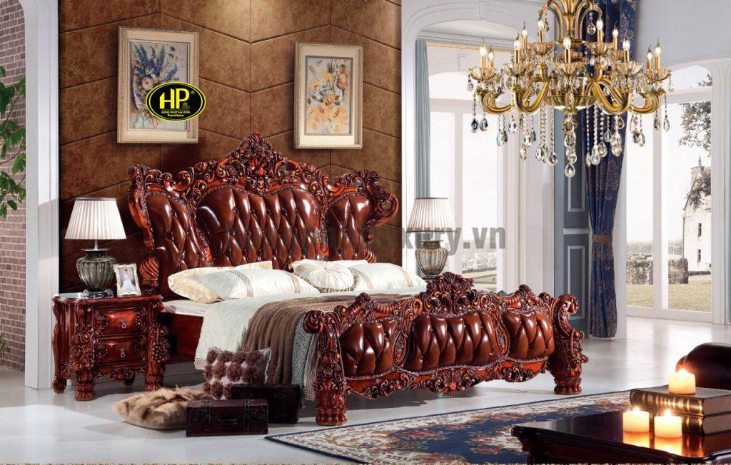 Giường ngủ cổ điển gỗ hương A-28