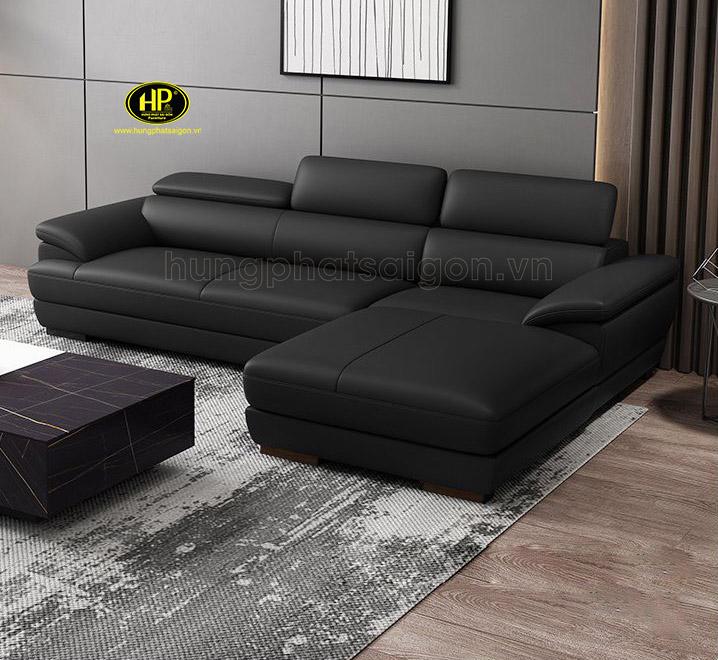 Sofa góc da cho phòng khách nhỏ HD-69