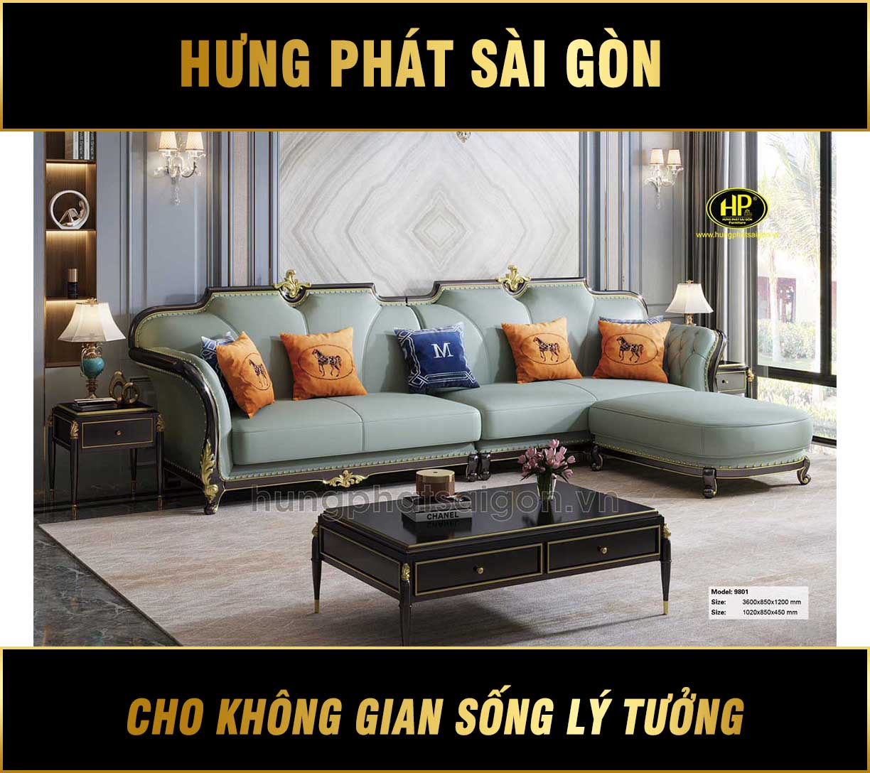 Ghế sofa băng tân cổ điển AT-9801