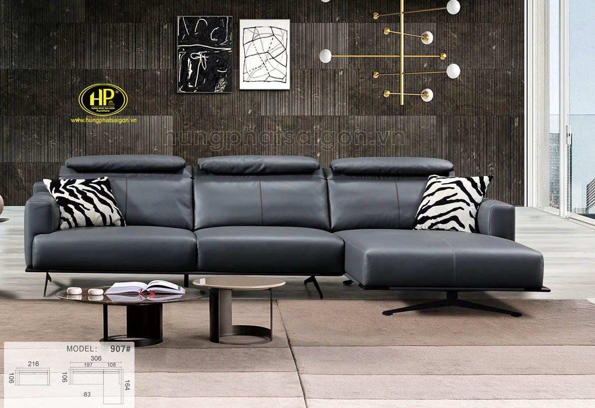 Ghế sofa góc L cao cấp nhập khẩu NK-907