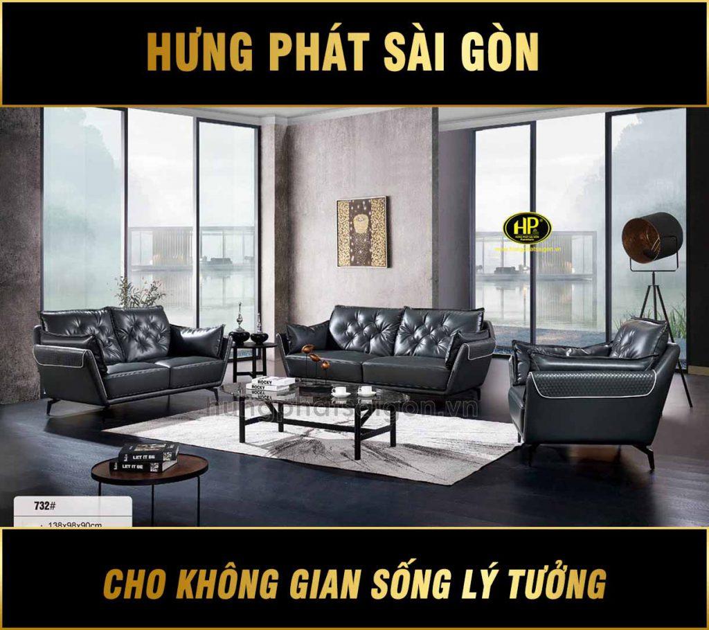 Bộ 3 ghế sofa cao cấp nhập khẩu NK-732