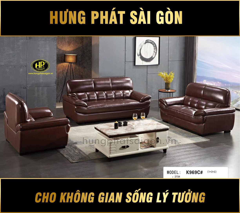 Bộ 3 ghế sofa nhập khẩu hiện đại NK-K969C