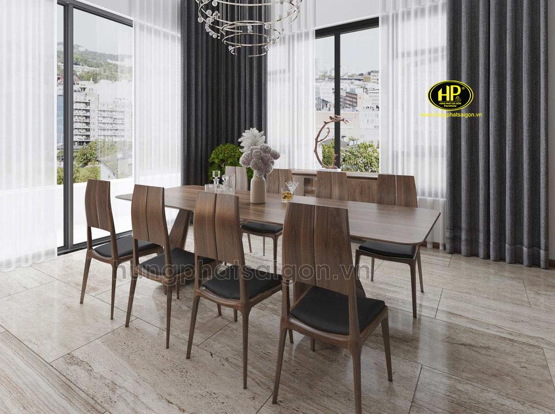Bộ bàn ăn cao cấp bằng gỗ BA-14