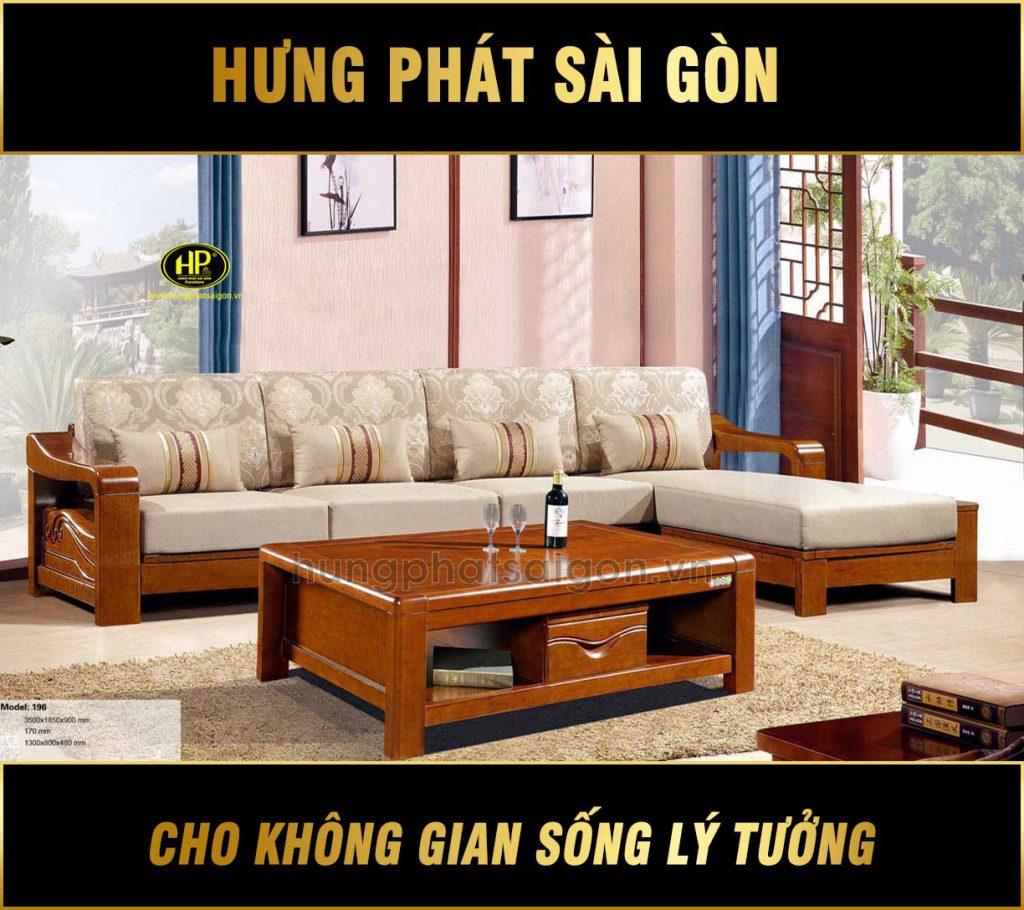 Bộ ghế sofa cao cấp gỗ xoan đào AT-196
