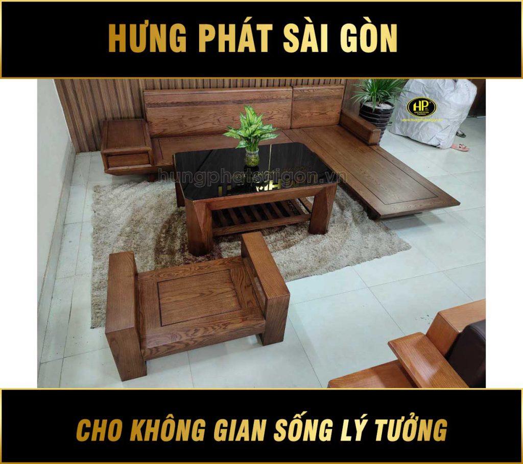 Bộ ghế sofa gỗ sồi hiện đại HS-08