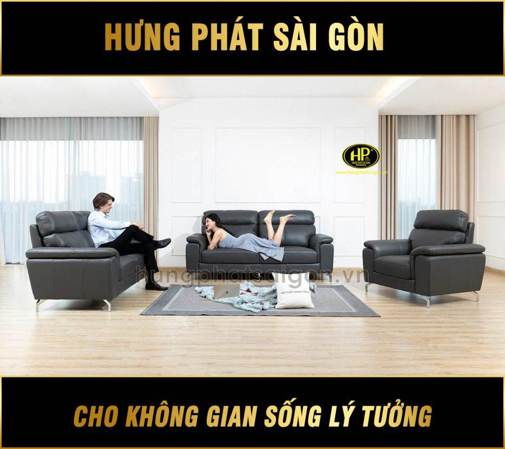 Bộ sofa da phòng khách H-205