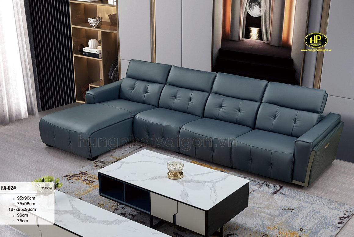 Ghế sofa da bò tiếp xúc nhập khẩu NK-FA-02