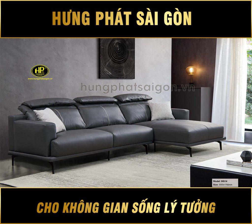 Ghế sofa da nhập khẩu cao cấp NK-9051
