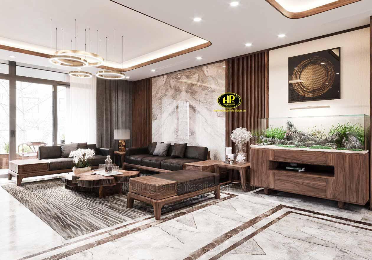 Ghế sofa gỗ cao cấp sang trọng HS-41